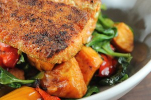 Cumin-Scented-Pan-Seared-Salmon-with-Balsamic-Roasted-Vegetables