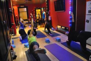 Yoga class at Panacea Studio