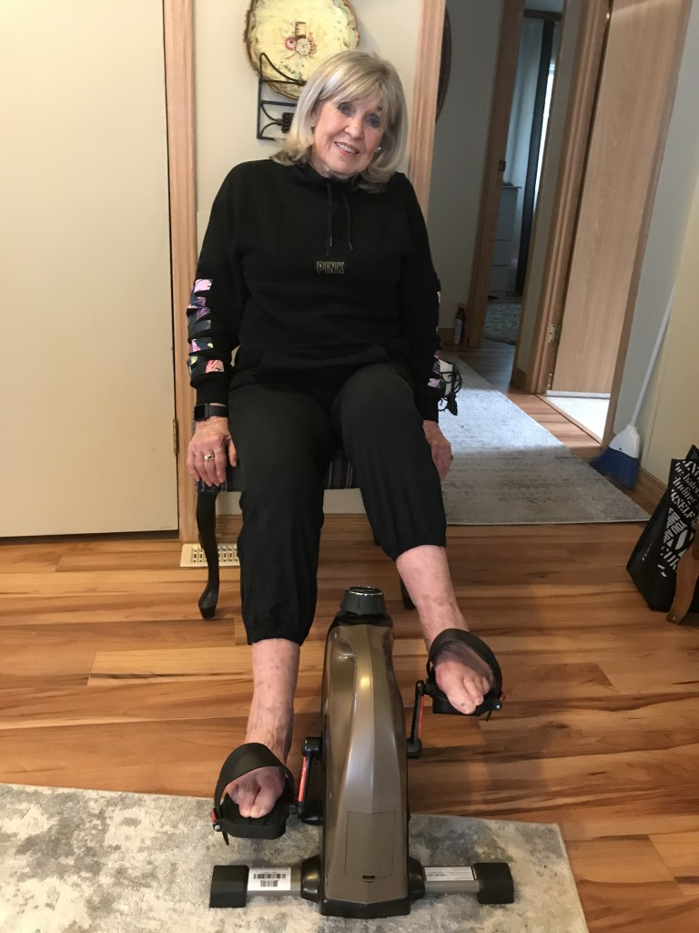 My Mom This Past Weekend On Her Pedal Bike